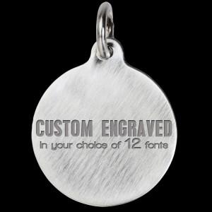 56163890c53 Round Titanium Pet Tags | Titanium Circle Round Pet ID Tags @ The ...