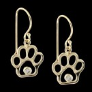 14KY Gold & Diamond Paw Print Earrings