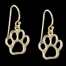 14KY Gold Paw Print Earrings