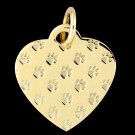14K Gold Paws on My Heart Pendant