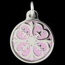 Stainless Steel Primavera Pendant (Lavender)