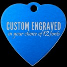 Heart Aluminum Pet Tag (Blue)