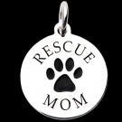 Sterling Silver Rescue Mom Pendant Front