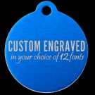 Round Aluminum Pet Tag (Blue)