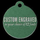 Round Aluminum Pet Tag (Green)