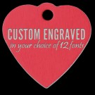 Custom Engraved Red Aluminum Pet Tag