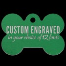 Bone Aluminum Pet Tag (Green)