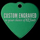 Heart Aluminum Pet Tag (Green)