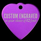 Heart Aluminum Pet Tag (Purple)