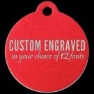 Round Aluminum Pet Tag (Red)