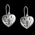 Sterling Silver Florentine Earrings