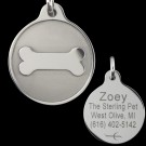 Tungsten Bone Designer Pet Tag