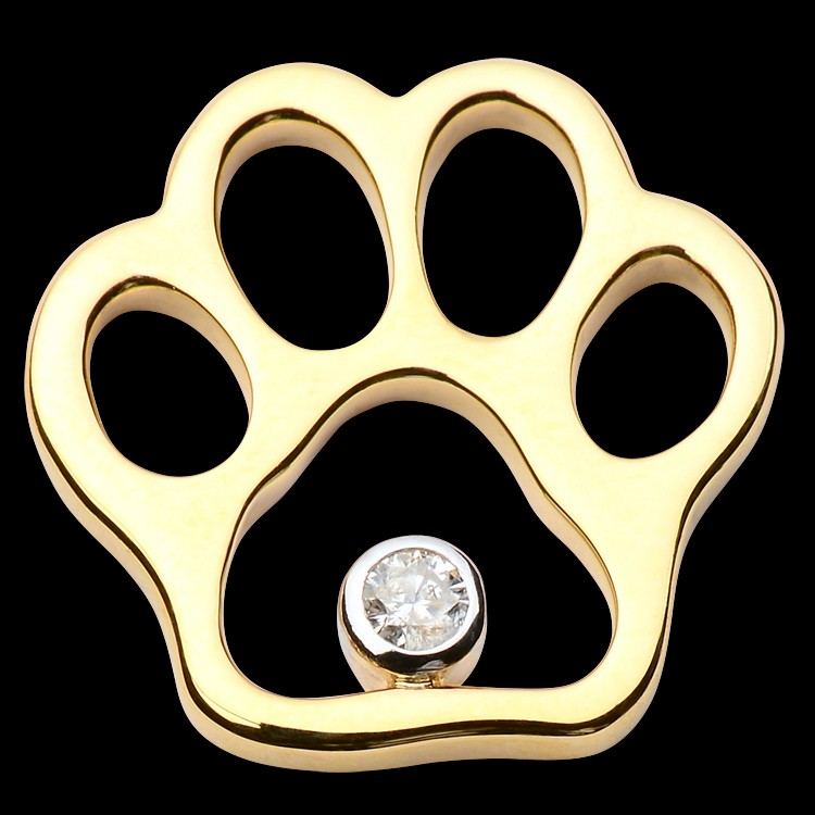 Diamond Paw Print Jewelry