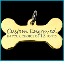 Brass Custom Engraved Pet Tags