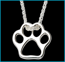 Sterling Silver Paw Print Pendant