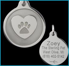 Tungsten Custom Engraved Pet Tags