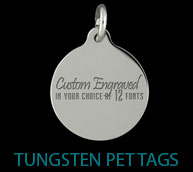 Tungsten Pet Tags